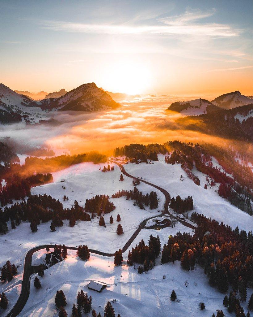Sunset in the Alps of Switzerland Kevin Krautgartner Schweiz, Säntis