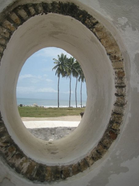 Fenster in Cape Coast Castle