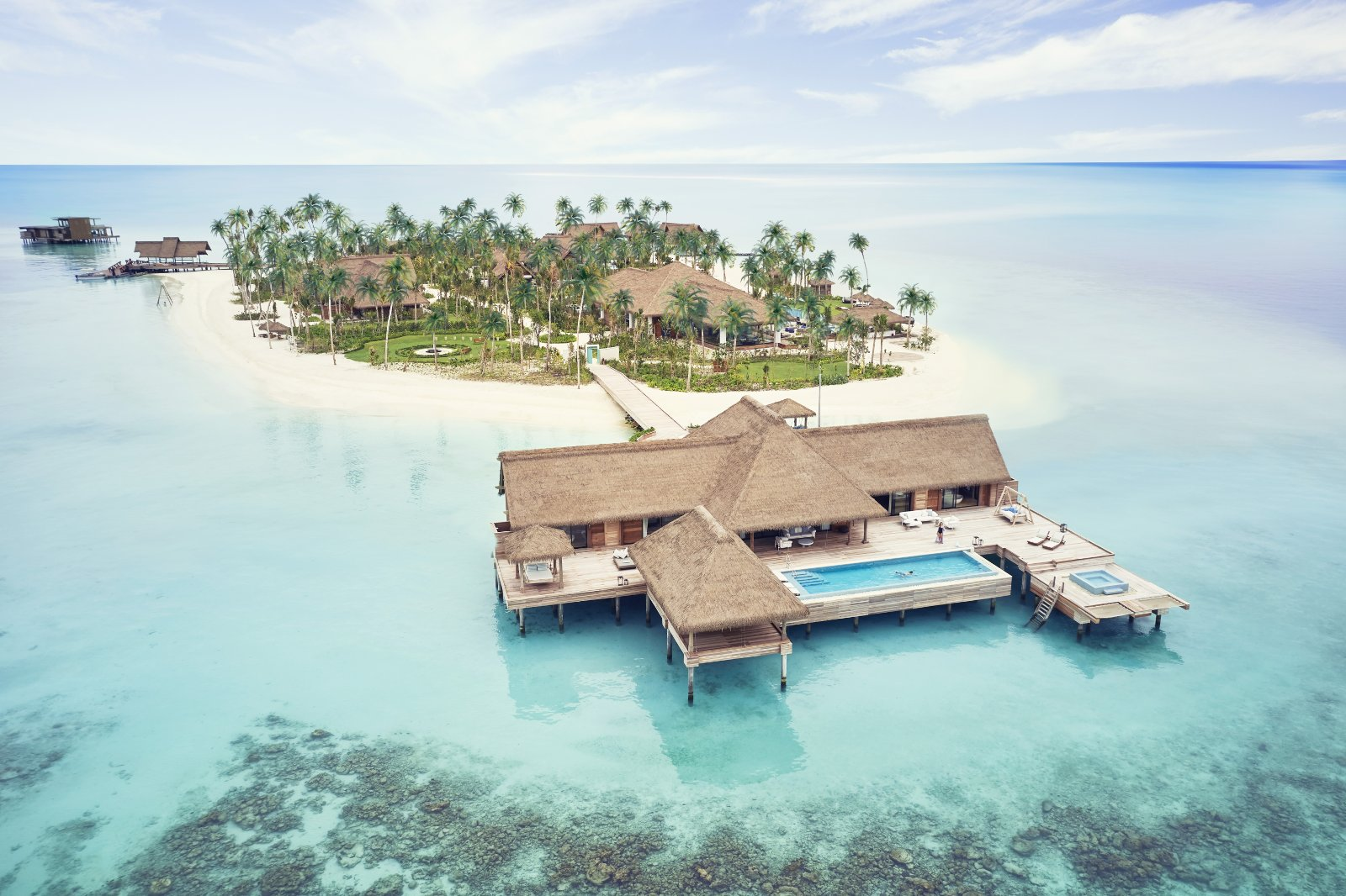 Das Waldorf Astoria Ithaafushi auf den Malediven freut sich ab 15. Juli 2020 auf internationale Gäste. Bildnachweis: Waldorf Astoria Hotels & Resorts
