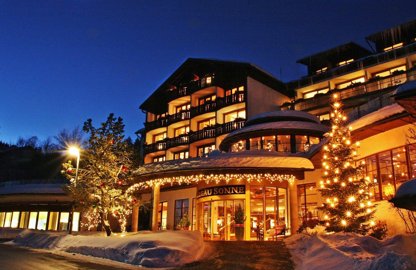 Feiern, sporteln und erholen – all das ist zum Jahreswechsel im Fünf-Sterne-Hotel Allgäu Sonne in Oberstaufen möglich. Bildnachweis: Allgäu Sonne