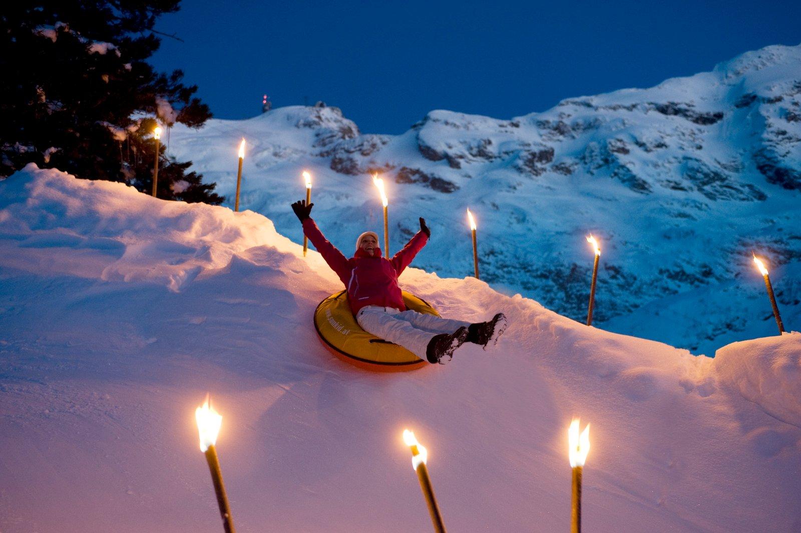 Guten Rutsch ins neue Jahr – im Klosterdorf Engelberg in der Zentralschweiz nimmt man die Wünsche wörtlich. Bildnachweis: Engelberg-Titlis/Fotograf Christian Perret
