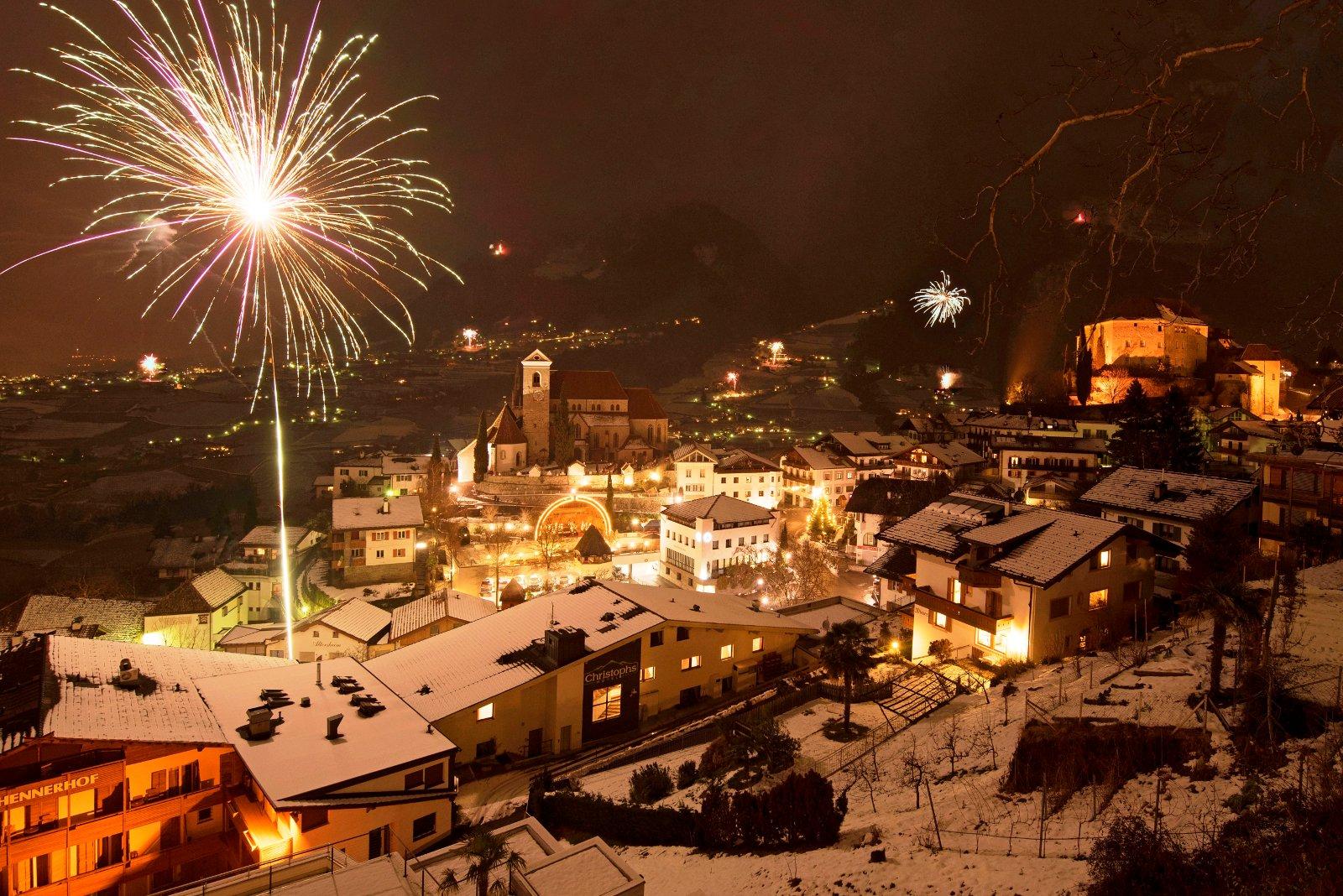 Die meisten Hotels und Restaurants in Schenna halten attraktive Silvester-Packages bereit. Bildnachweis: Tourismusverein Schenna/Frieder Blickle