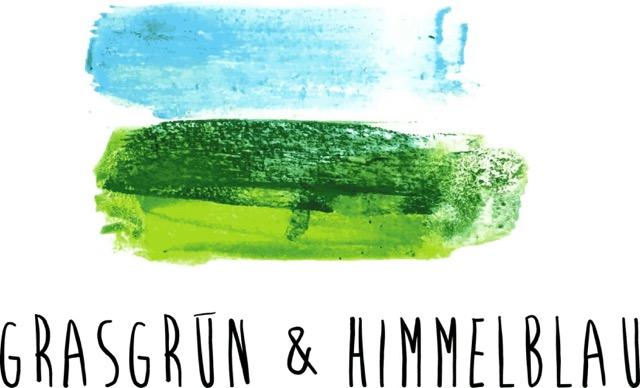 Grasgruen und Himmelblau
