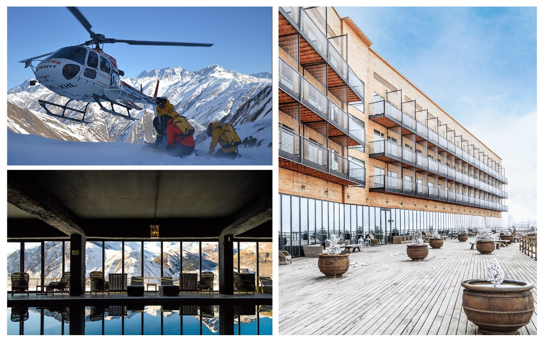 Heliskiing in georgien for Design hotel kazbegi