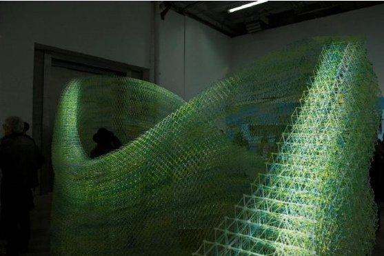 «Iridescence Print» © Gramazio Kohler Research, ETH Zürich und Palais de Tokyo