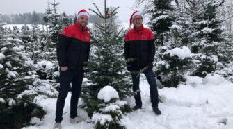 Links: Severin Lüthi, Trainer von Roger Federer Rechts: Tilmann Schultze, DPD (Schweiz) AG CEO