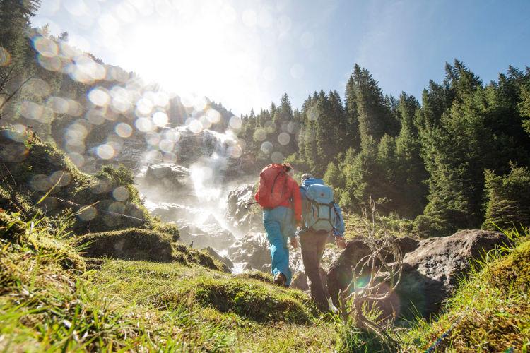 Grawa Wasserfall am WildeWasserWeg im Stubaital.  Foto: Andre Schoenherr